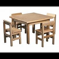 Детский столик и стул (сосна)
