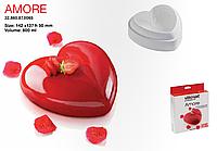 Форма силиконовая Silikomart Amore 142x137 мм + штамп для бисквита Amore 600