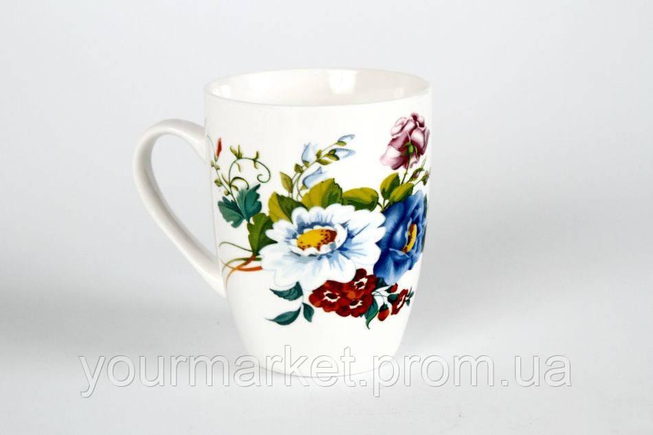 Кружка фарфор 350 мл Букет цветов в подар.упак. 76040061