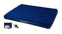 Двухспальний надувний матрас INTEX 68759 розміром 152х203х22см.