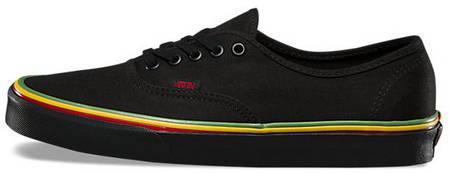 Женские кеды Vans Authentic (Rasta) Black / Black Skate Shoes. ТОП Реплика ААА класса., фото 2