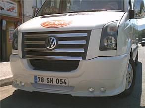 Передний бампер (накладка, 4 фары) Volkswagen Crafter