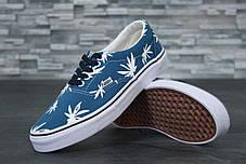 Женские кеды Vans Vault Era LX OG 'Palm Leaf blue,  ванс. ТОП Реплика ААА класса., фото 2