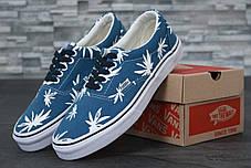 Женские кеды Vans Vault Era LX OG 'Palm Leaf blue,  ванс. ТОП Реплика ААА класса., фото 3
