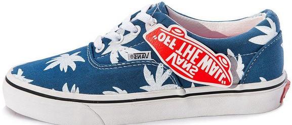 Женские кеды Vans Vault Era LX OG 'Palm Leaf blue,  ванс. ТОП Реплика ААА класса.
