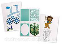 Трафареты для рисования 3D ручкой (в упаковке 20 листов, двухсторонний рисунок)  цена за 1 упаковку