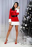 «ЖЕНЕВЬЕВА-2». Платье-костюм Снегурочки с БЕЛЫМ мехом