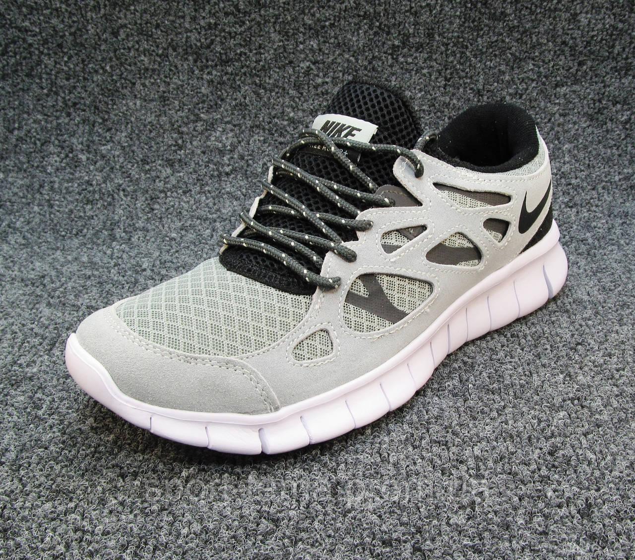 1c450d5b ... Кроссовки мужские Nike Free Run 2+ текстиль светло-серые (найк фри ран)  ...