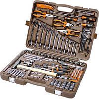 """Универсальный набор инструмента 1/4"""", 3/8"""" и 1/2""""DR и аксессуары к ним, 131 пр.(OMT131S) Ombra"""