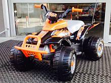 Детский квадроцикл Peg Perego T-REX 12V черно-оранжевый, мощность 280W, фото 3