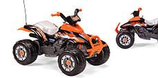 Детский квадроцикл Peg Perego T-REX 12V черно-оранжевый, мощность 280W, фото 2