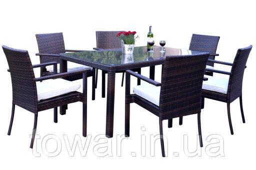 Садовая мебель TAMAN стол 6 стульев TECHNORATTAN