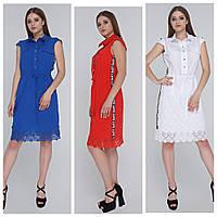 Хлопковое платье рубашка женское(46-54), доставка по Украине