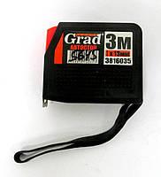 Рулетка c автостопом 13мм х 3м GRAD 3816035