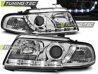 Передние фары тюнинг оптика Audi A4 b5
