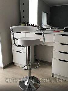 Стул барный, стул для визажиста, хокер(МАРСЕЛЬ белый)