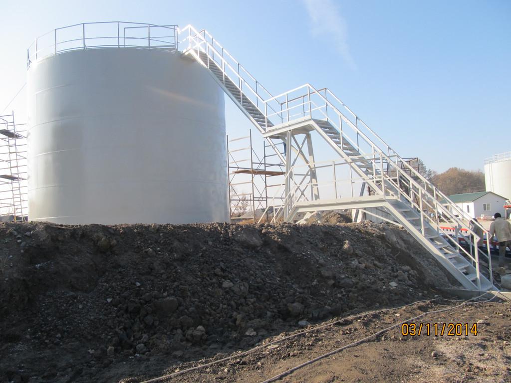 Изгототовление резервуаров на складе КАС 1