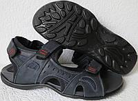 Ессо biom! Детские кожаные сандалии синяя кожа качественные босоножки Экко биом