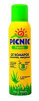 """Аэрозоль от комаров, москитов, мокрецов """"PICNIC"""" Family 150 мл"""