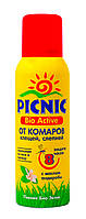 """Аэрозоль от комаров, клещей, слепней """"PICNIC"""" Bio Active 125 мл"""