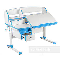 Комплект парта для подростка Sognare Blue + детское ортопедическое кресло Primavera I Blue FunDesk, фото 2