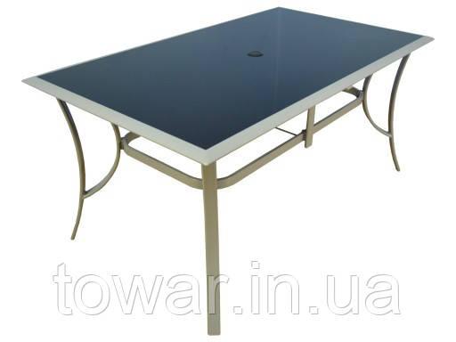 Садовый стол 90x150 Алюминий + закаленное стекло. JARD