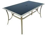 Садовый стол 90x150 Алюминий + закаленное стекло. JARD , фото 1