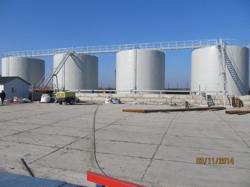 Изгототовление резервуаров на складе КАС 4
