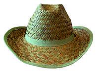 """Соломенная шляпа """"ковбойка"""" из крупной соломки"""