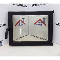 Чугунные дверцы каминные со стеклом -VVK 36х47,5см/32х43см