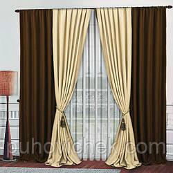Красивый комплект штор для гостинной 4 шторы по 1.5