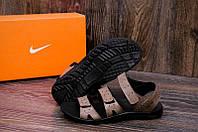 Сандалии мужские Nike ACG, олив, натур кожа (реплика)