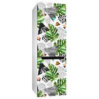 Интерьерная наклейка на холодильник Тропики (виниловая пленка, полноцветная печать)