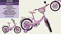 "Велосипед 2-х колес 12"", со звонком, зеркалом, без ручного тормоза (1шт)(181205)"
