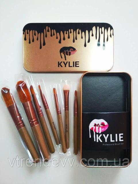 Пензлики професійні Kylie Professional Brush Set 7 в 1 золото