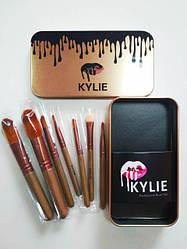 Кисточки профессиональные Kylie Professional Brush Set 7 в 1 золото