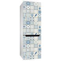 Интерьерная наклейка на холодильник Керамическая плитка (виниловая пленка самоклеющаяся, декор холодильника)