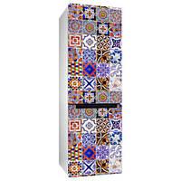 Виниловая наклейка на холодильник Португальская плитка (декор холодильника, пленка, полноцветная печать)