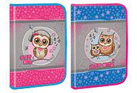 "Папка А4 ""Cute little owl"", пластик, на молнии, глитер, 33*23см(7381)"