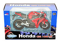 Moтoцикл мeтaлличecкий Welly Honda 2009 CBR 1000 RR , фото 1