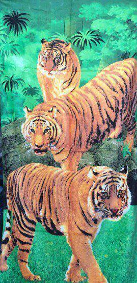 """Пляжное полотенце Семья тигров"""""""