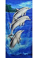 """Пляжное полотенце """"Дельфины"""""""