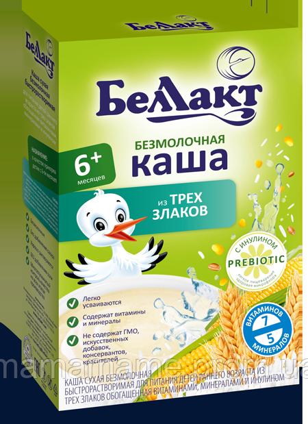 Беллакт Безмолочная каша 3 злака (кукурузно-рисово-пшенничная с инулином)
