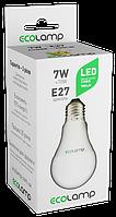 Светодиодная лампа LED A60 7Вт E27 700lm 4100K ECOLAMP