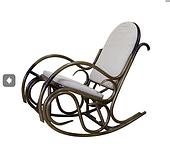 Плетенное кресло-качалка Олимп ЧФЛИ из ротанга с мягкими подушками