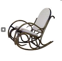 Плетенное кресло-качалка Олимп ЧФЛИ из ротанга с мягкими подушками, фото 1