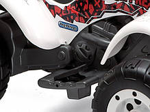 Детский квадроцикл Peg Perego T-REX 12V бело-серый, мощность 280W, фото 2