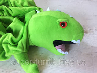 Чехол на мяч прыгун  детский c рожками Динозавр (фитбол детский с рожками) 45см