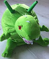 Мяч прыгун  детский c рожками Динозавр (фитбол детский с рожками) 45см