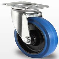 Поворотное колесо диаметром 80 мм из эластичной резины, шариковый подшипник